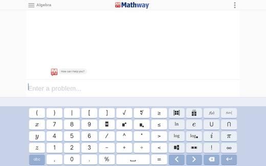 on mathway domain